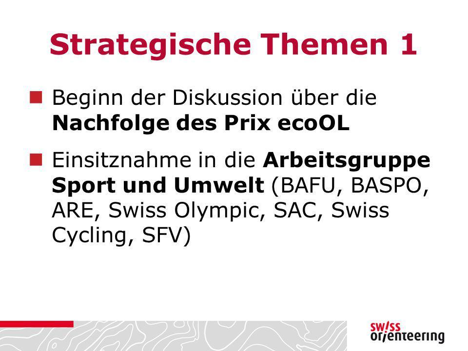 Strategische Themen 1 Beginn der Diskussion über die Nachfolge des Prix ecoOL.