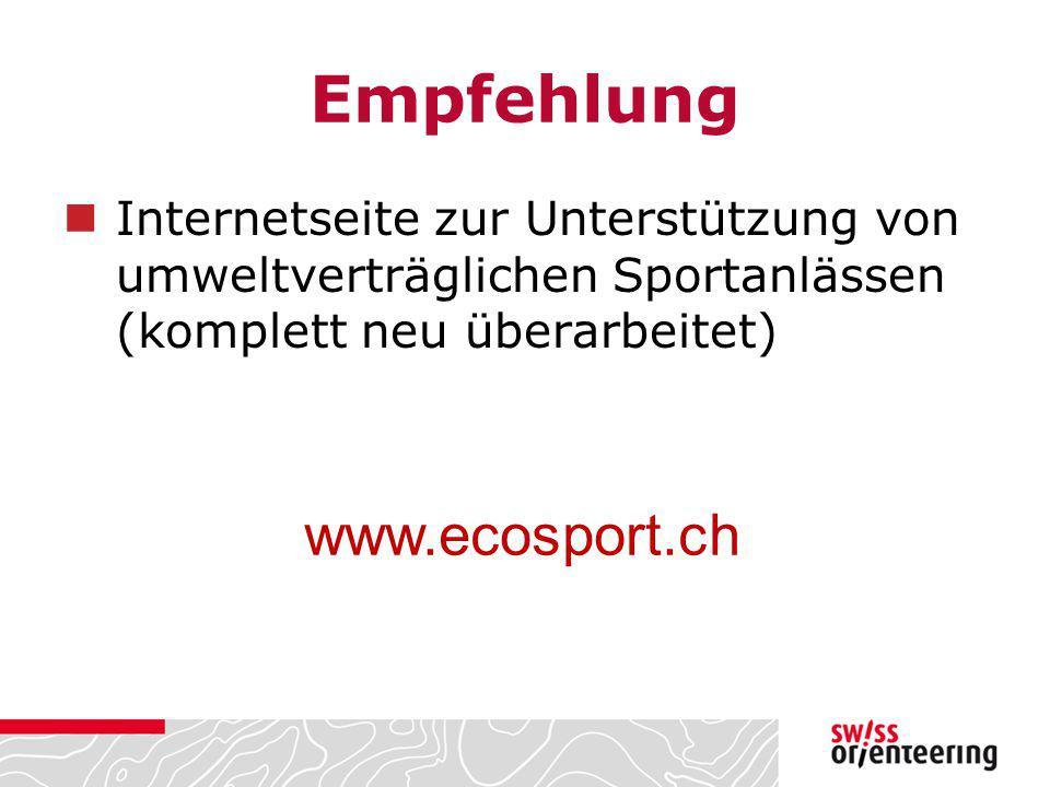 Empfehlung www.ecosport.ch