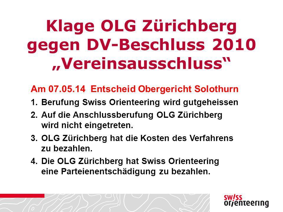 """Klage OLG Zürichberg gegen DV-Beschluss 2010 """"Vereinsausschluss"""