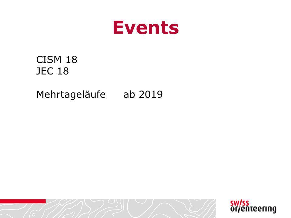 Events CISM 18 JEC 18 Mehrtageläufe ab 2019