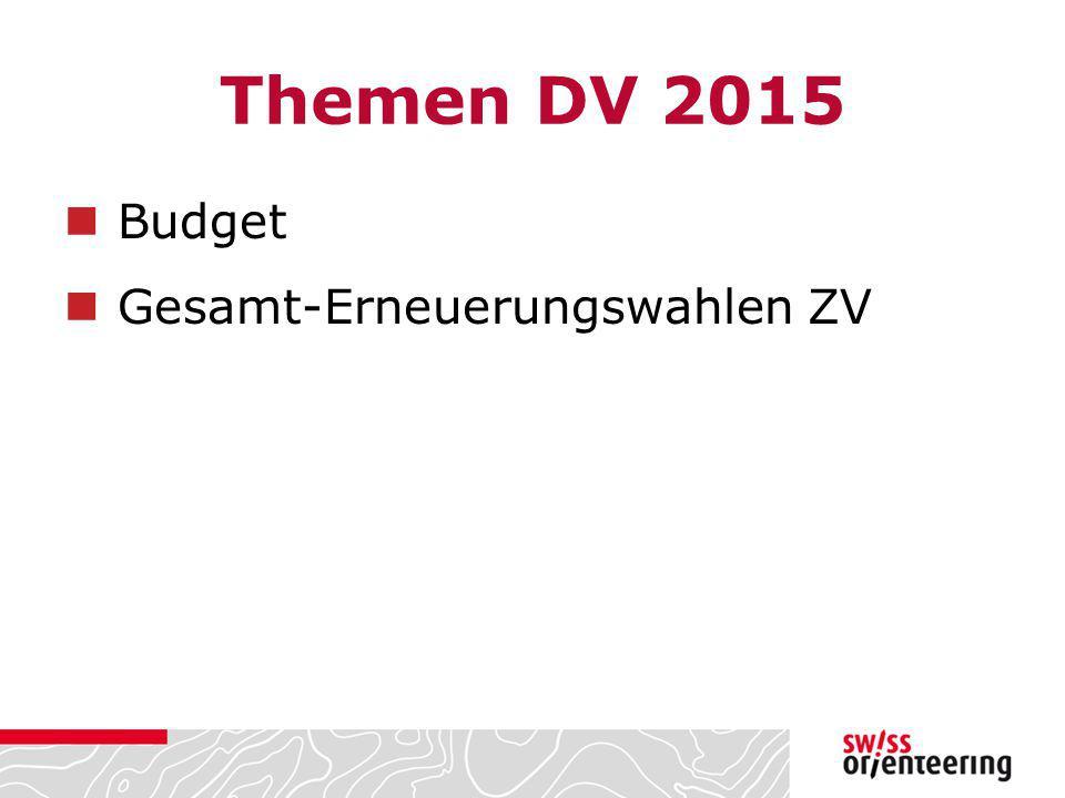 Themen DV 2015 Budget Gesamt-Erneuerungswahlen ZV