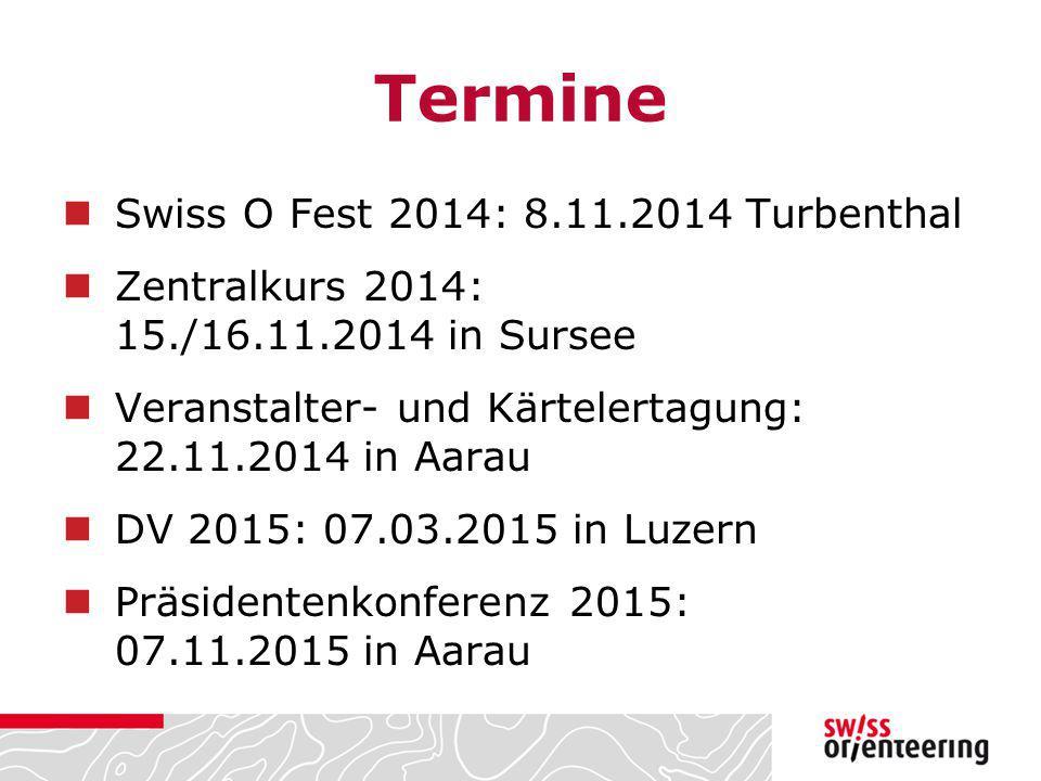 Termine Swiss O Fest 2014: 8.11.2014 Turbenthal