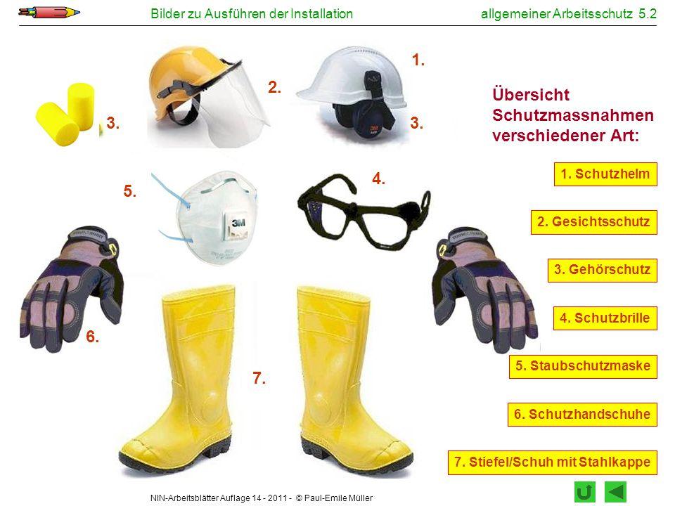 allgemeiner Arbeitsschutz 5.2