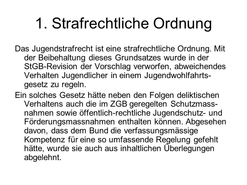 1. Strafrechtliche Ordnung
