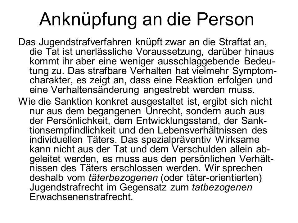Anknüpfung an die Person