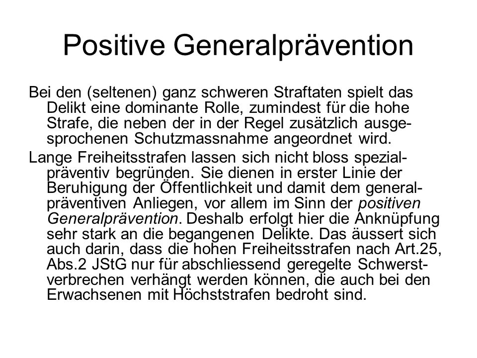 Positive Generalprävention