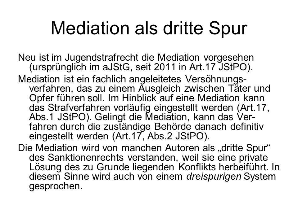 Mediation als dritte Spur