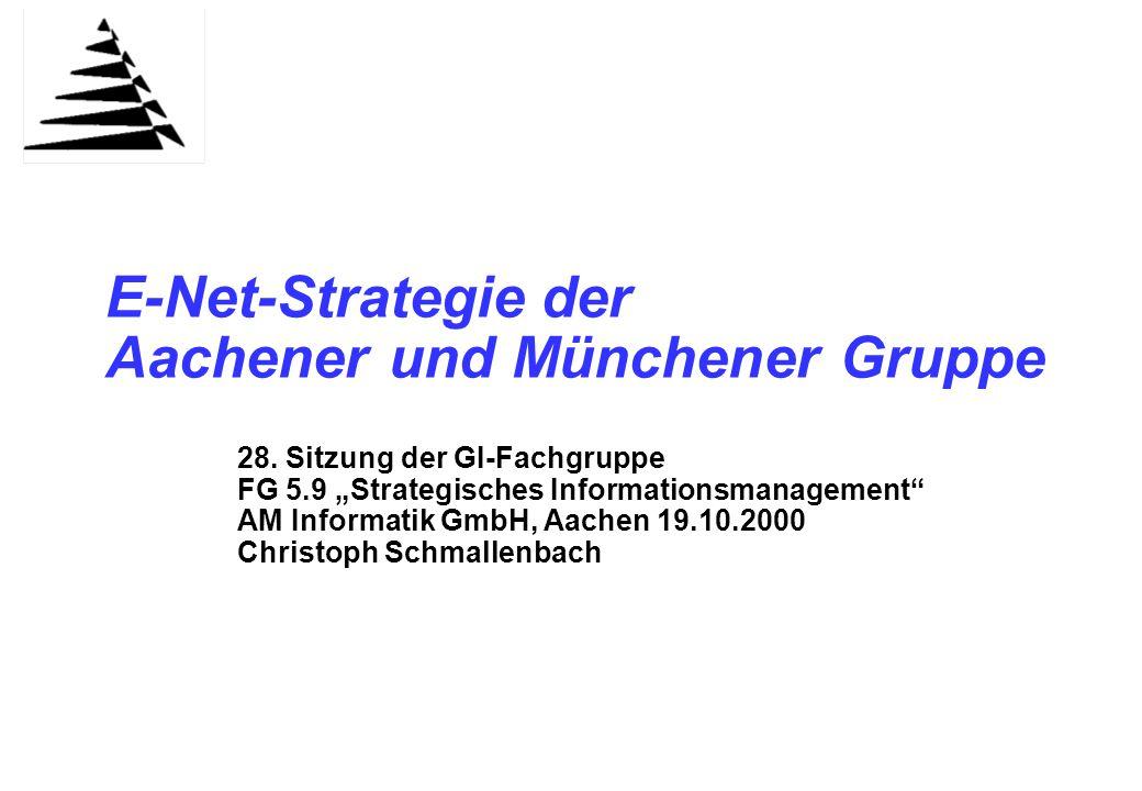 Agenda Kurzpräsentation AM Gruppe. Internet- und Intranet-Auftritte in der AM Gruppe.