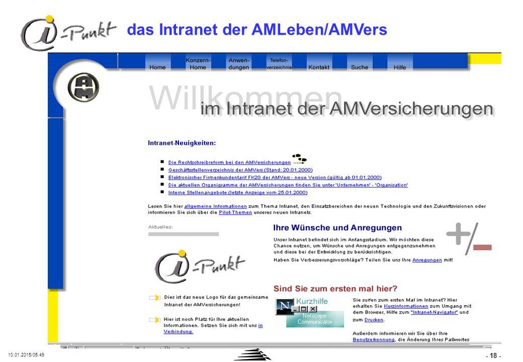 InfoNet: das Intranet der AM Informatik