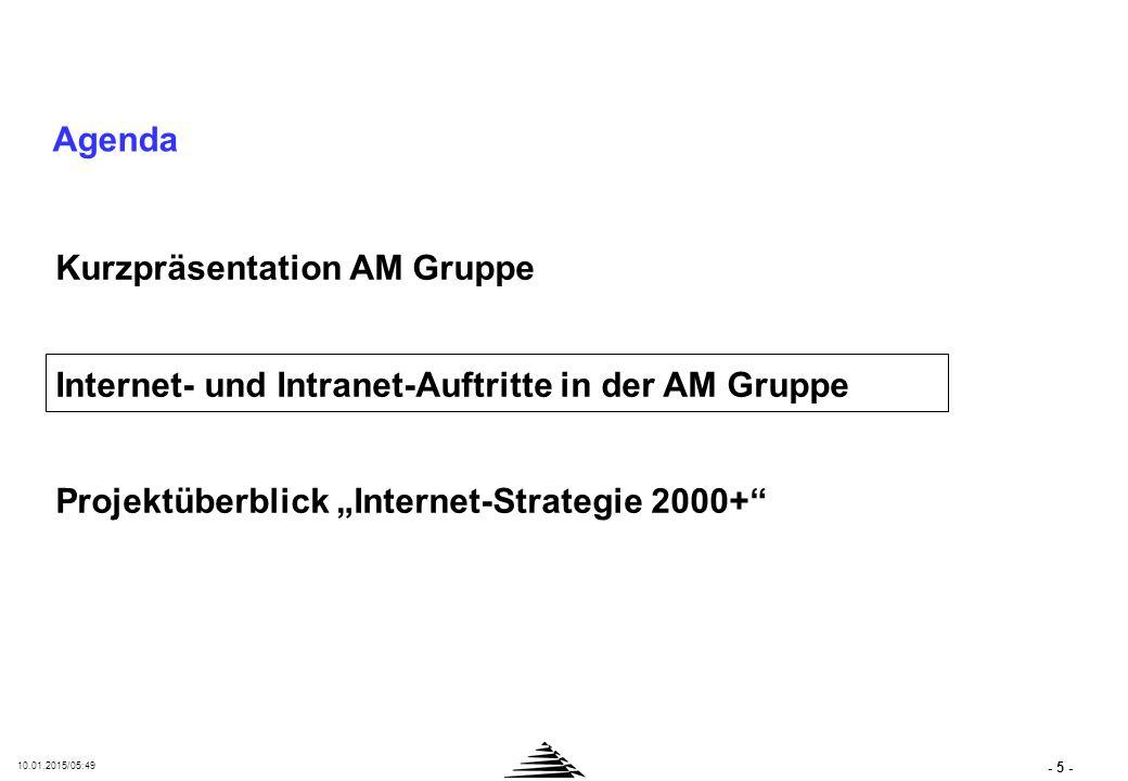 INTERNET-AUFTRITT DER AMB