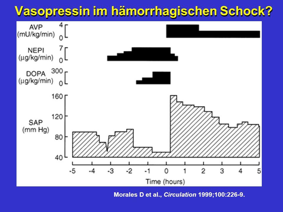 Vasopressin im hämorrhagischen Schock