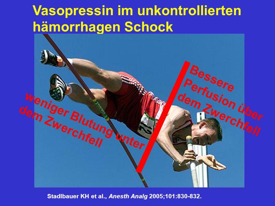 Vasopressin im unkontrollierten hämorrhagen Schock