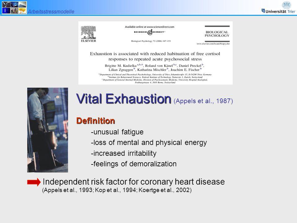 Vital Exhaustion (Appels et al., 1987)