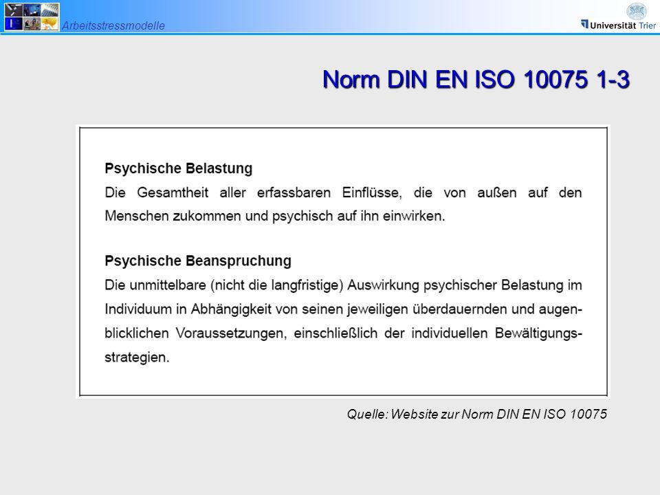 Norm DIN EN ISO 10075 1-3 Quelle: Website zur Norm DIN EN ISO 10075