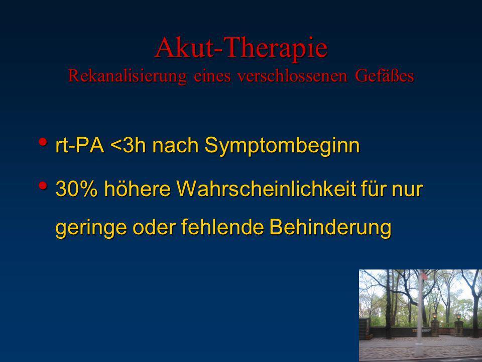 Akut-Therapie Rekanalisierung eines verschlossenen Gefäßes