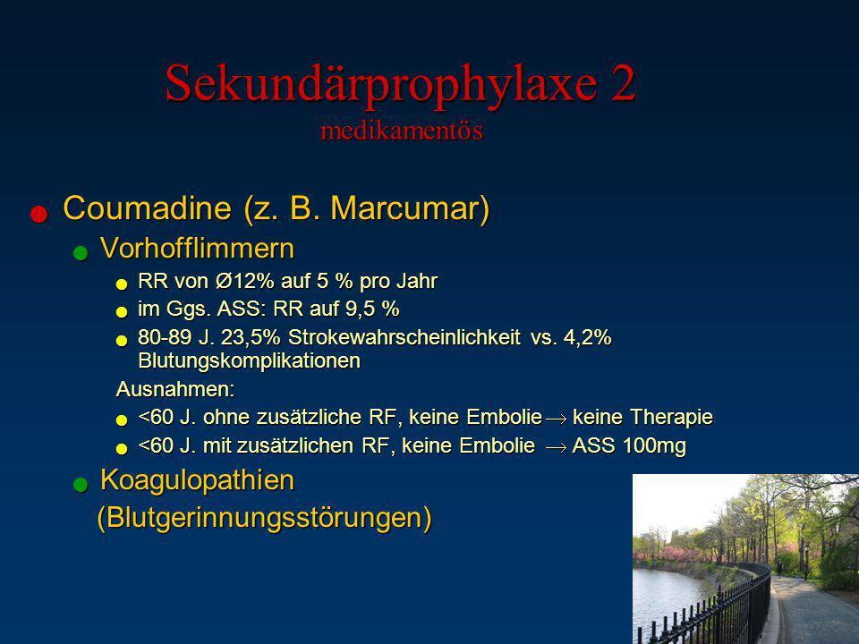 Sekundärprophylaxe 2 medikamentös