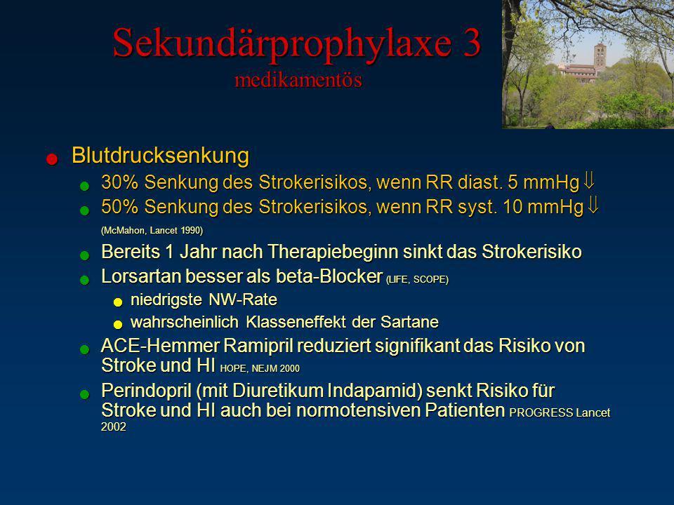 Sekundärprophylaxe 3 medikamentös