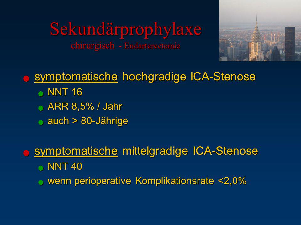 Sekundärprophylaxe chirurgisch - Endarterectomie