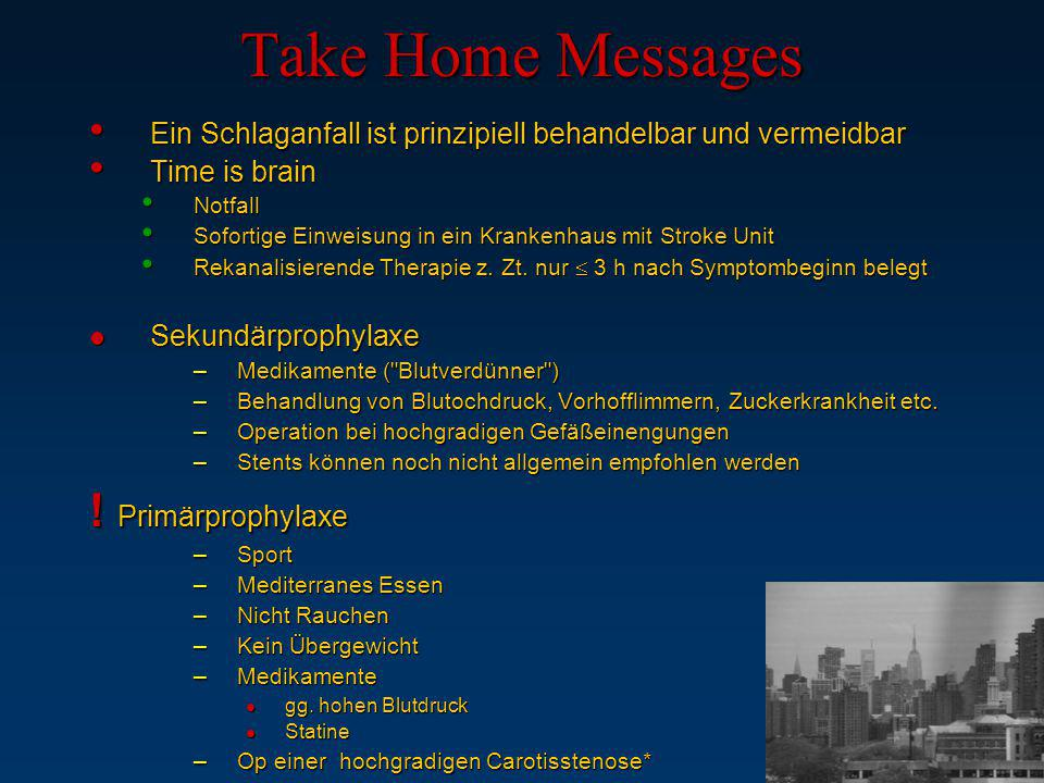 Take Home Messages ! Primärprophylaxe