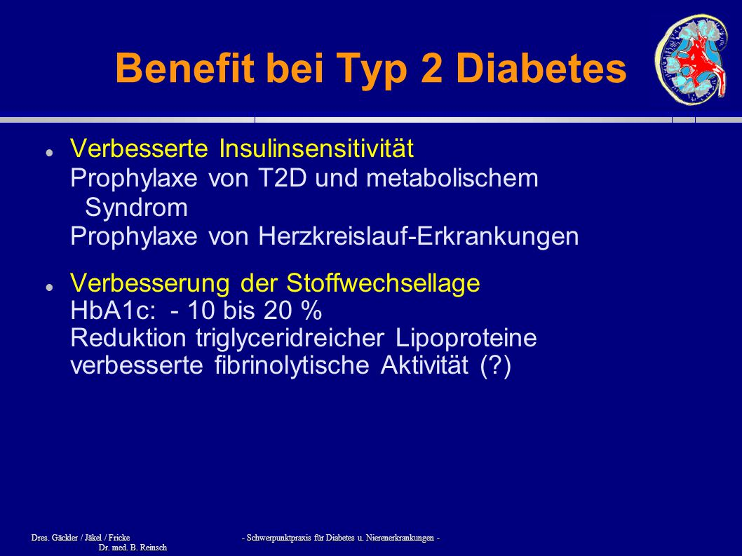 Benefit bei Typ 2 Diabetes