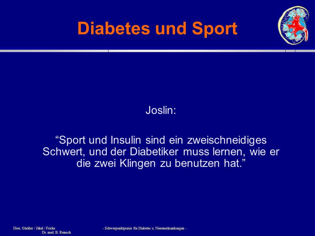 Diabetes und Sport Joslin: