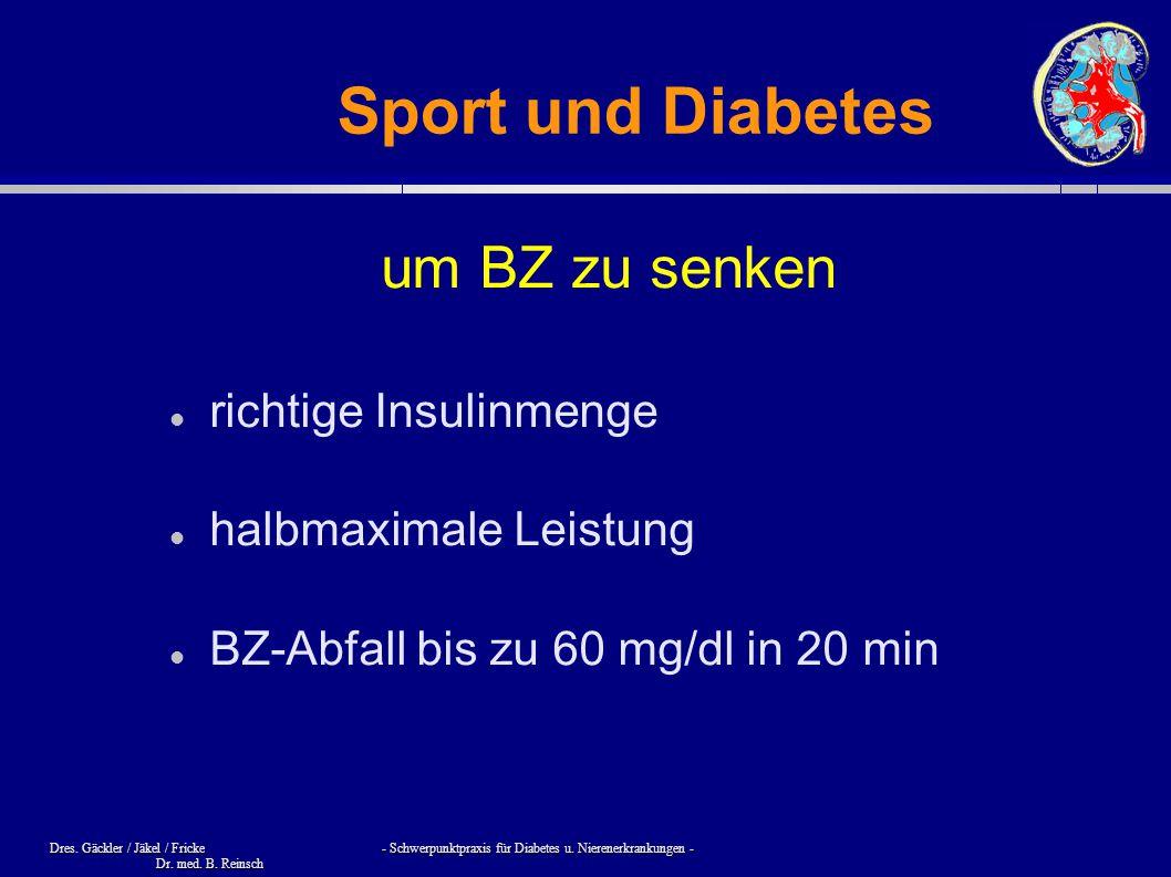Sport und Diabetes um BZ zu senken richtige Insulinmenge