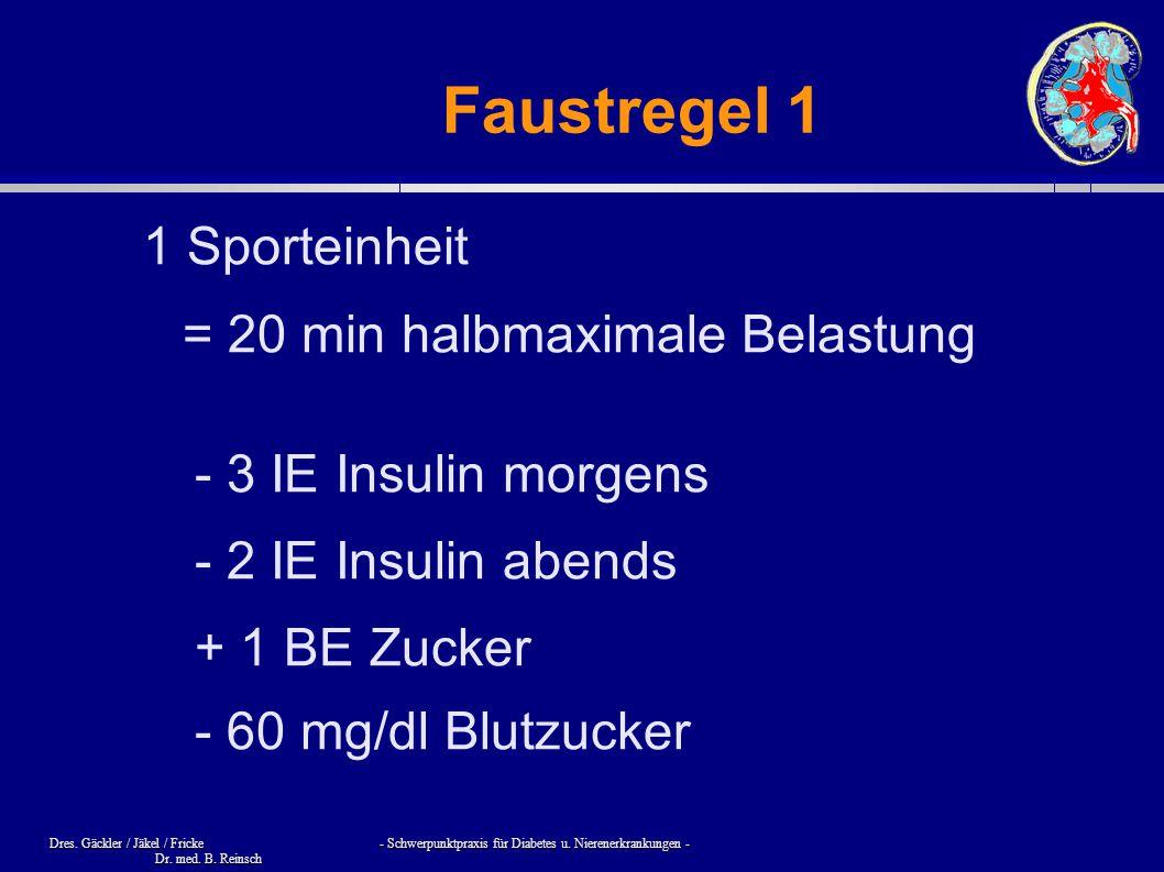 Faustregel 1 1 Sporteinheit = 20 min halbmaximale Belastung