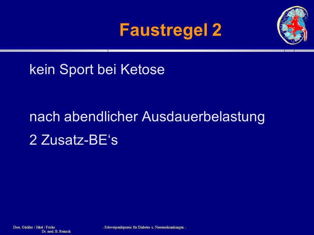 Faustregel 2 kein Sport bei Ketose nach abendlicher Ausdauerbelastung