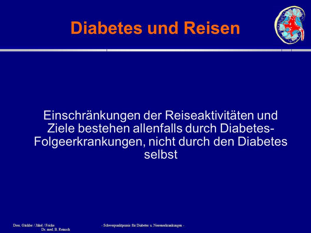 Diabetes und Reisen