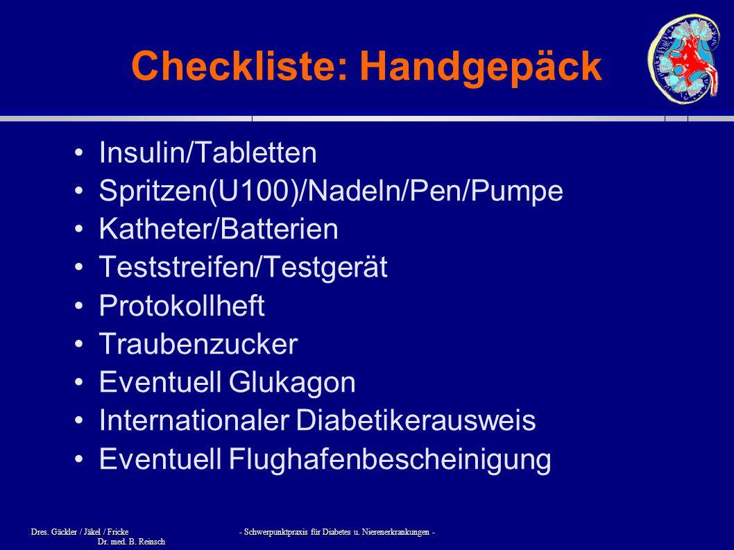 Checkliste: Handgepäck