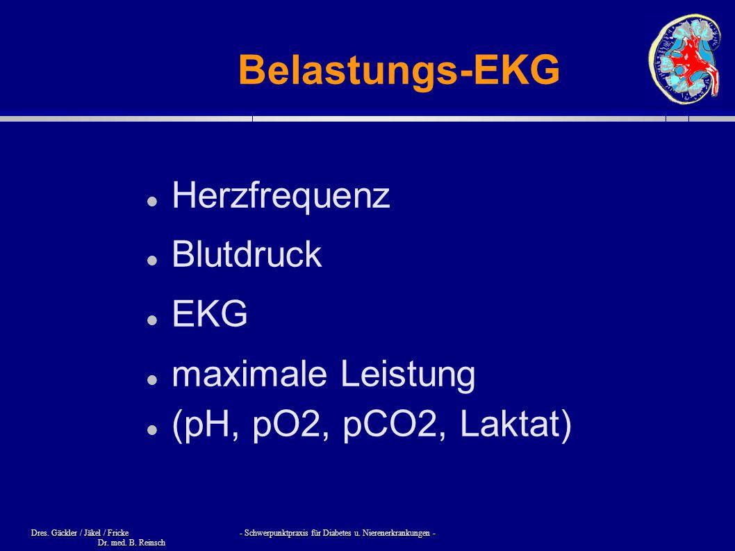 Belastungs-EKG Herzfrequenz Blutdruck EKG maximale Leistung