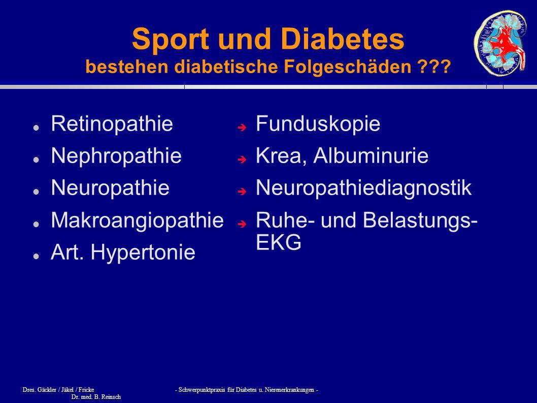 Sport und Diabetes bestehen diabetische Folgeschäden