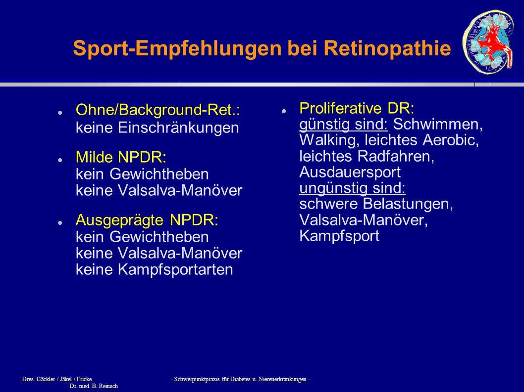 Sport-Empfehlungen bei Retinopathie