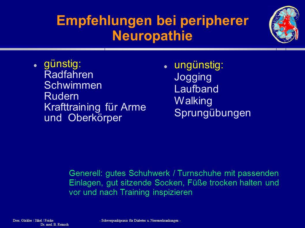 Empfehlungen bei peripherer Neuropathie