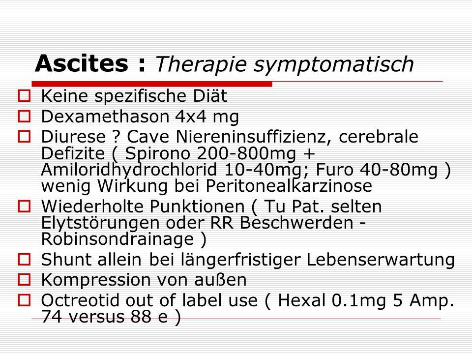 Ascites : Therapie symptomatisch