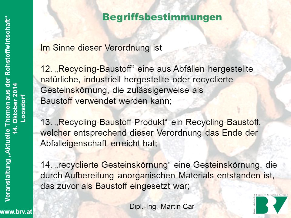 Was ändert sich beim Baustoff-Recycling