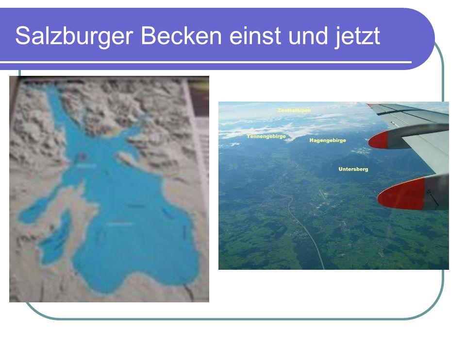 Salzburger Becken einst und jetzt