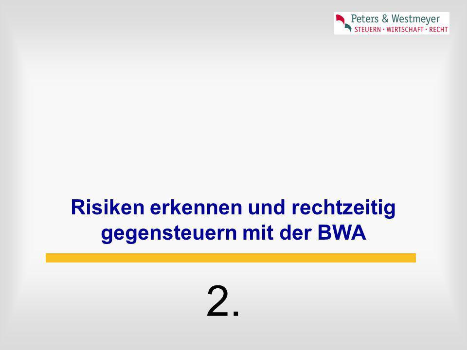 Risiken erkennen und rechtzeitig gegensteuern mit der BWA