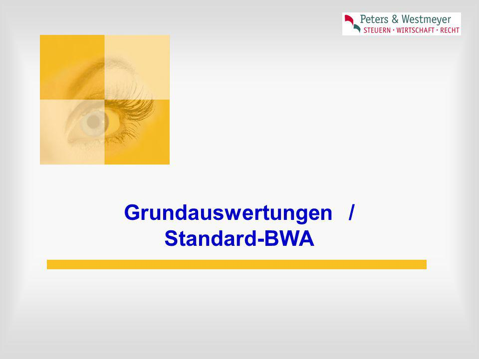 Grundauswertungen / Standard-BWA