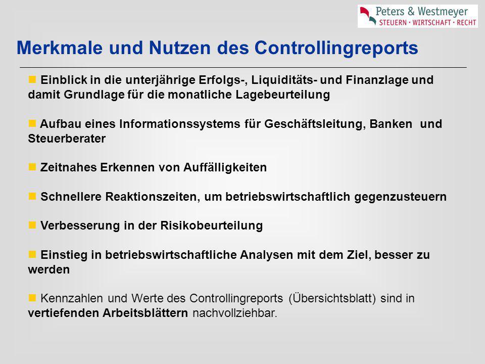 Merkmale und Nutzen des Controllingreports