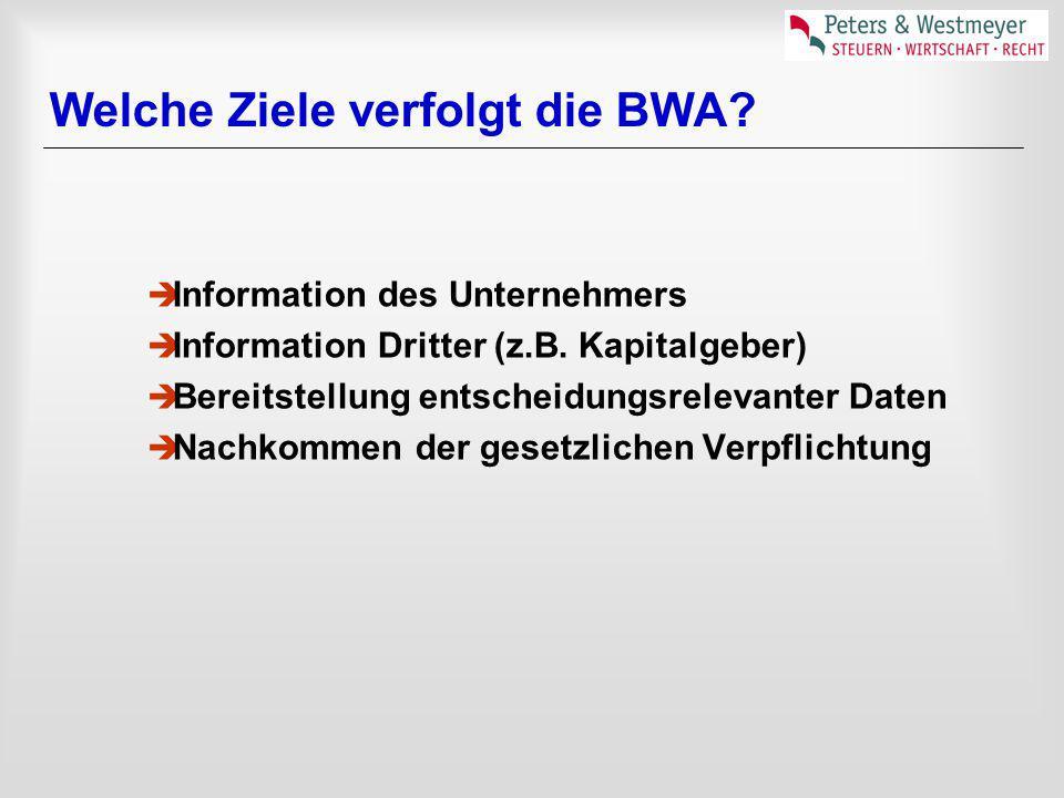 Welche Ziele verfolgt die BWA