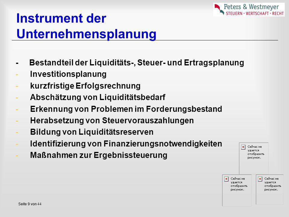 Instrument der Unternehmensplanung