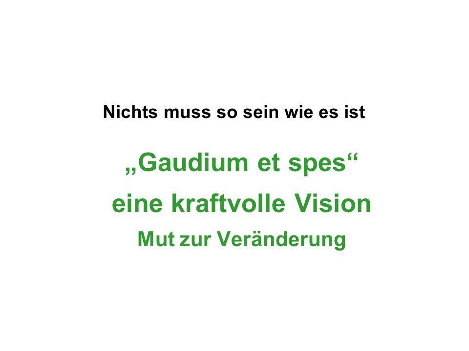 """""""Gaudium et spes eine kraftvolle Vision Mut zur Veränderung"""