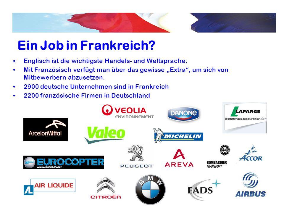 Ein Job in Frankreich Englisch ist die wichtigste Handels- und Weltsprache.