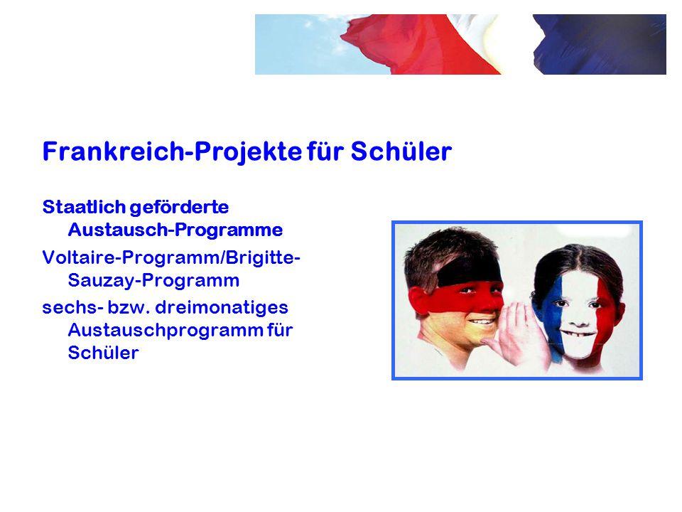 Frankreich-Projekte für Schüler