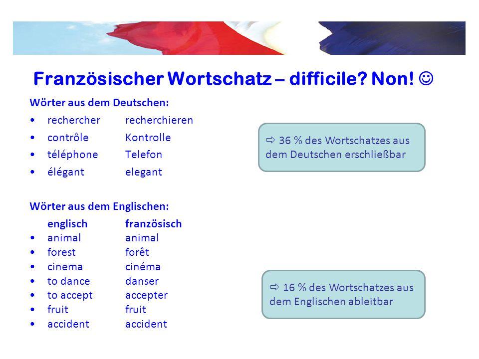 Französischer Wortschatz – difficile Non! 