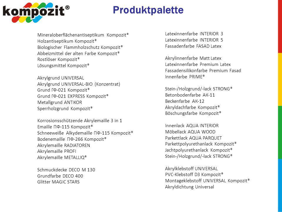 Produktpalette Latexinnenfarbe INTERIOR 3 Latexinnenfarbe INTERIOR 5