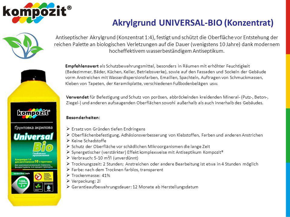 Akrylgrund UNIVERSAL-BIO (Konzentrat)