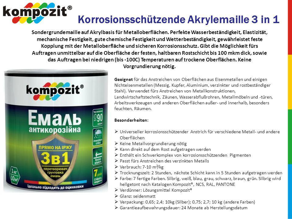 Korrosionsschützende Akrylemaille 3 in 1