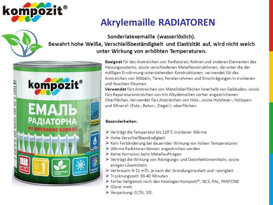 Sonderlatexemaille (wasserlöslich).